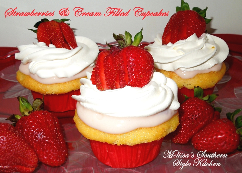 Dreamy Cream-Filled Cupcakes Recipe — Dishmaps