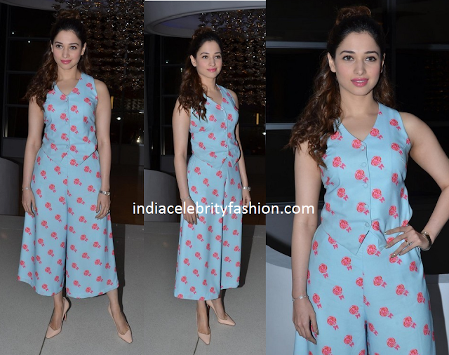 Tamannah Bhatia in Nishka Lulla Lollipop print Dress