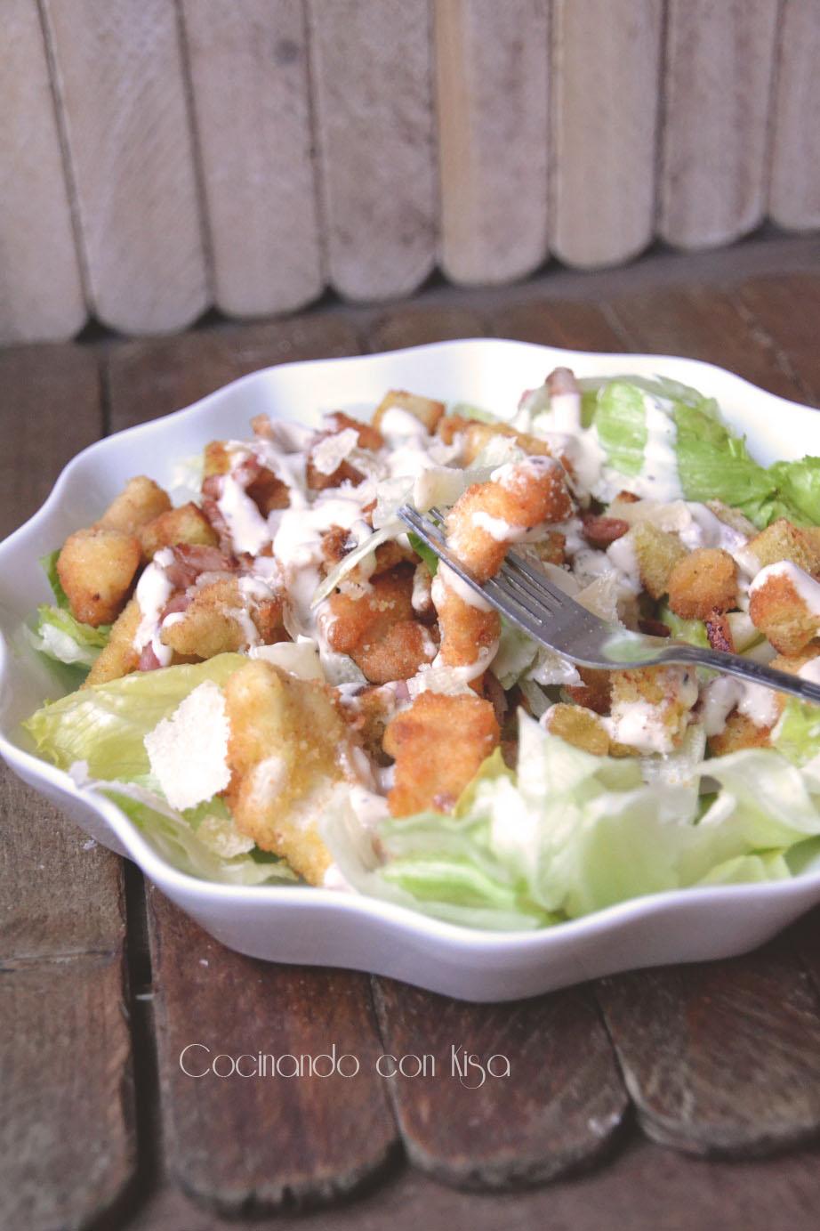 Cocinando con kisa ensalada cesar thermomix for Cocinando con kisa