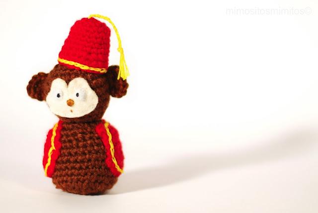 mono amigurumi simio en crochet ganchillo ganxet