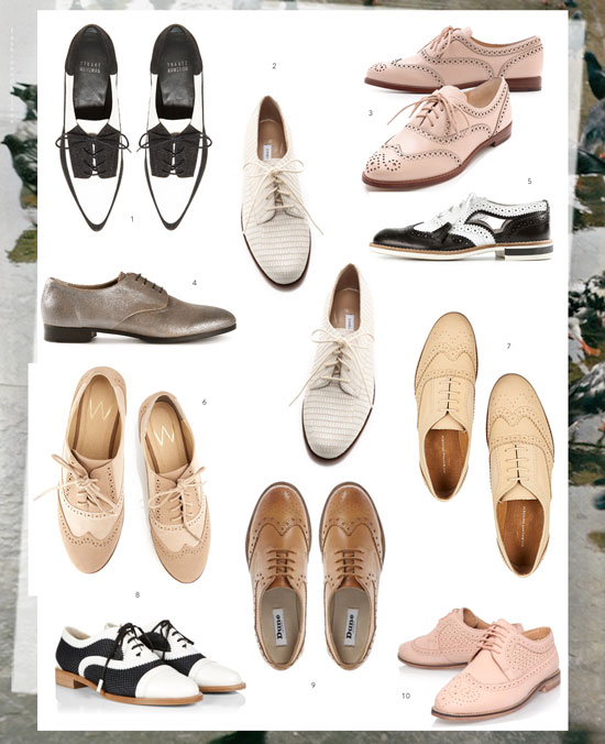 Oxfords and brogues for women, to suit all budgets and styles
