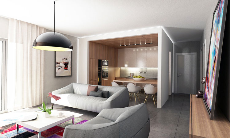 Bata Ringan Type AAC: Modern Studio Apartment Warm Interior