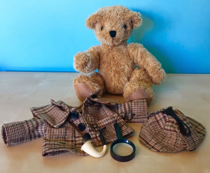 Morgan's Milieu | GB British Teddies: Teddy bear with Sherlock Holmes style clothes removed.
