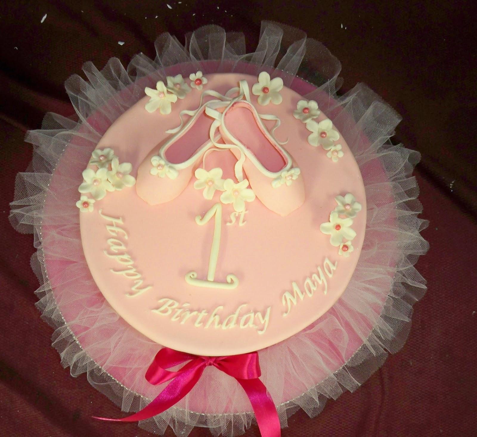 Ballerina Tutu 1st Birthday Cake Elisabeths Wedding Cakes