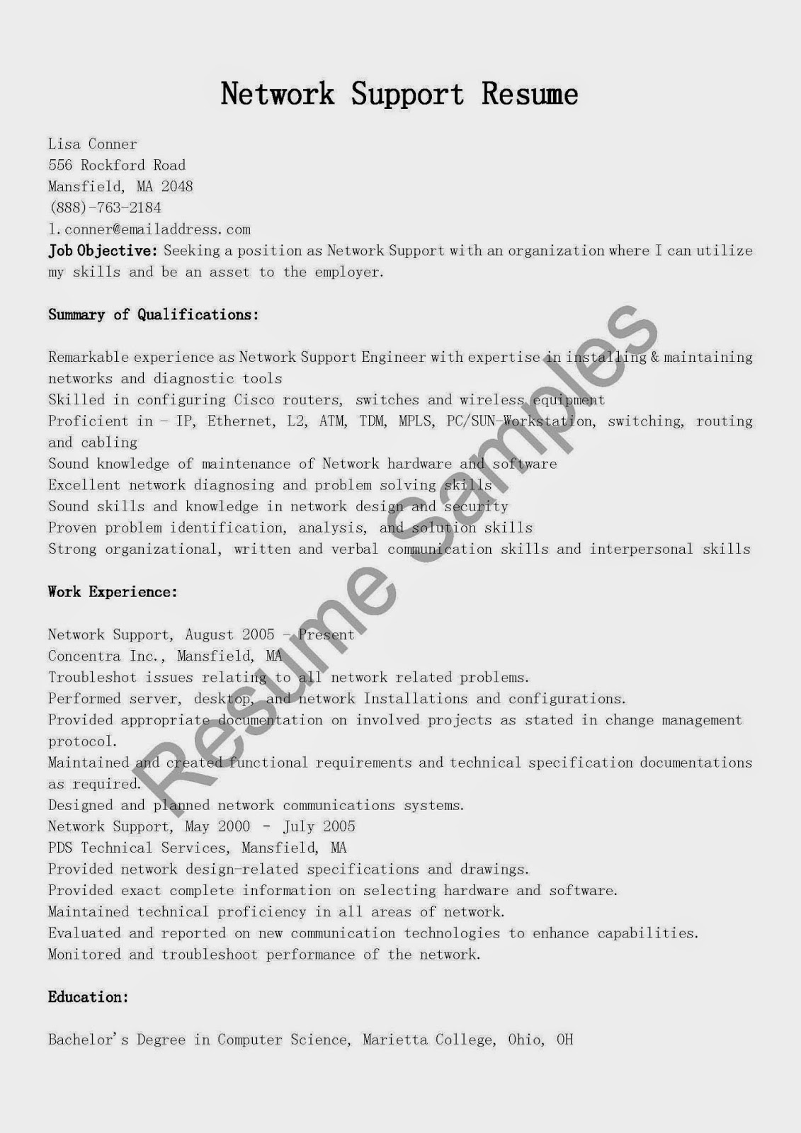 network support resume 28 images sle network engineer