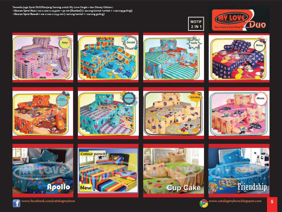 Katalog Sprei dan Bedcover My Love DUO Disney & Single 1 edisi 4 Tahun 2012 Page 5