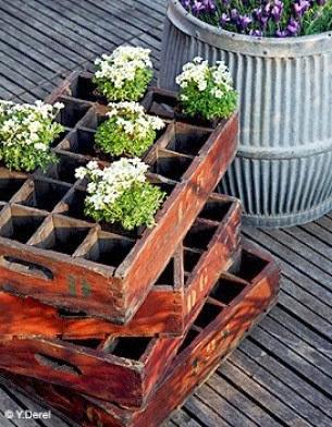 D co fait main r cup de palettes de cagettes pour construire des meubles - Deco jardin fait main caen ...