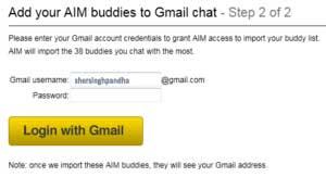 Import AIM Friends into Google Talk