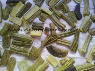 Zucchini in salsa di prezzemolo e capperi
