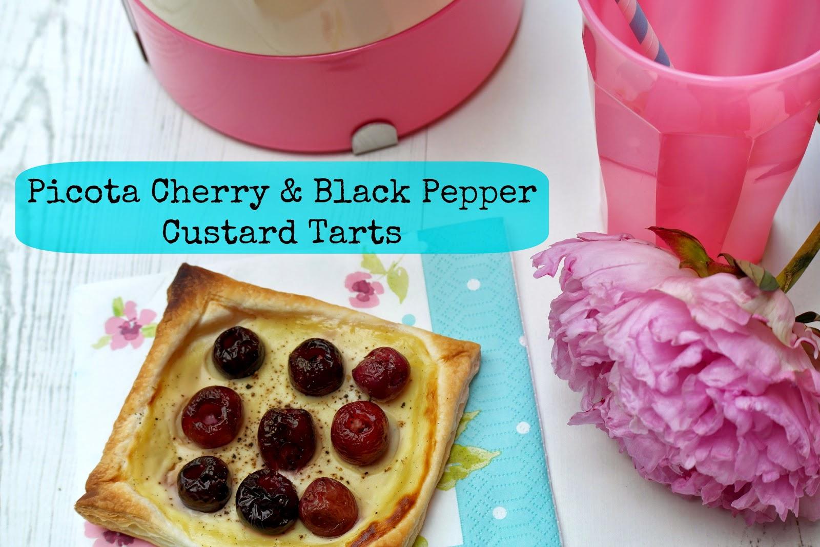 Cherry and black pepper tart