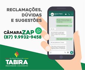 WHATSAPP DA CÂMARA MUNICIPAL DE VEREADORES DE TABIRA