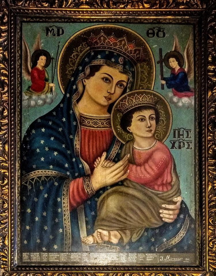 Το εικόνισμα της Παναγίας στο Κιβέρι που συνδέεται με την Εθνική Επέτειο του 1940