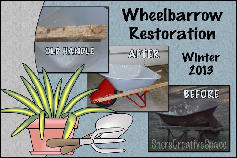 how to fix a wheelbarrow