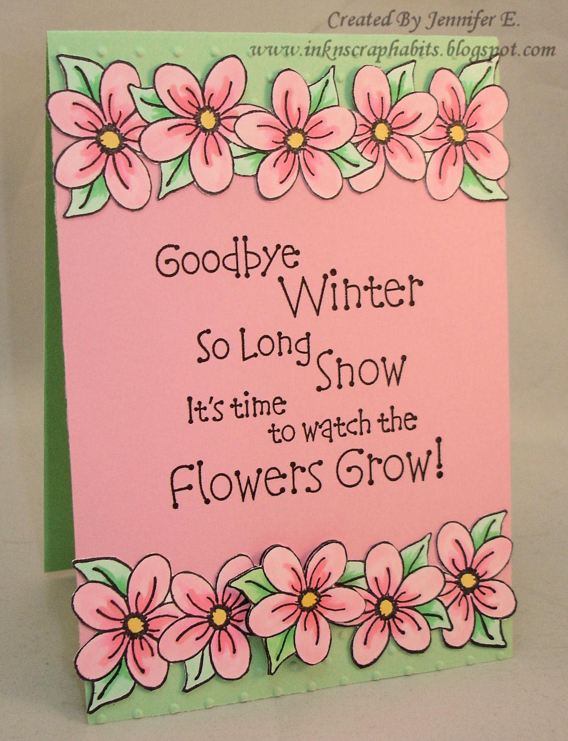 Border flower handmade greeting design pictures picturesboss ink scrap habits so long winter jpg 1118x1458 border flower handmade greeting design pictures m4hsunfo