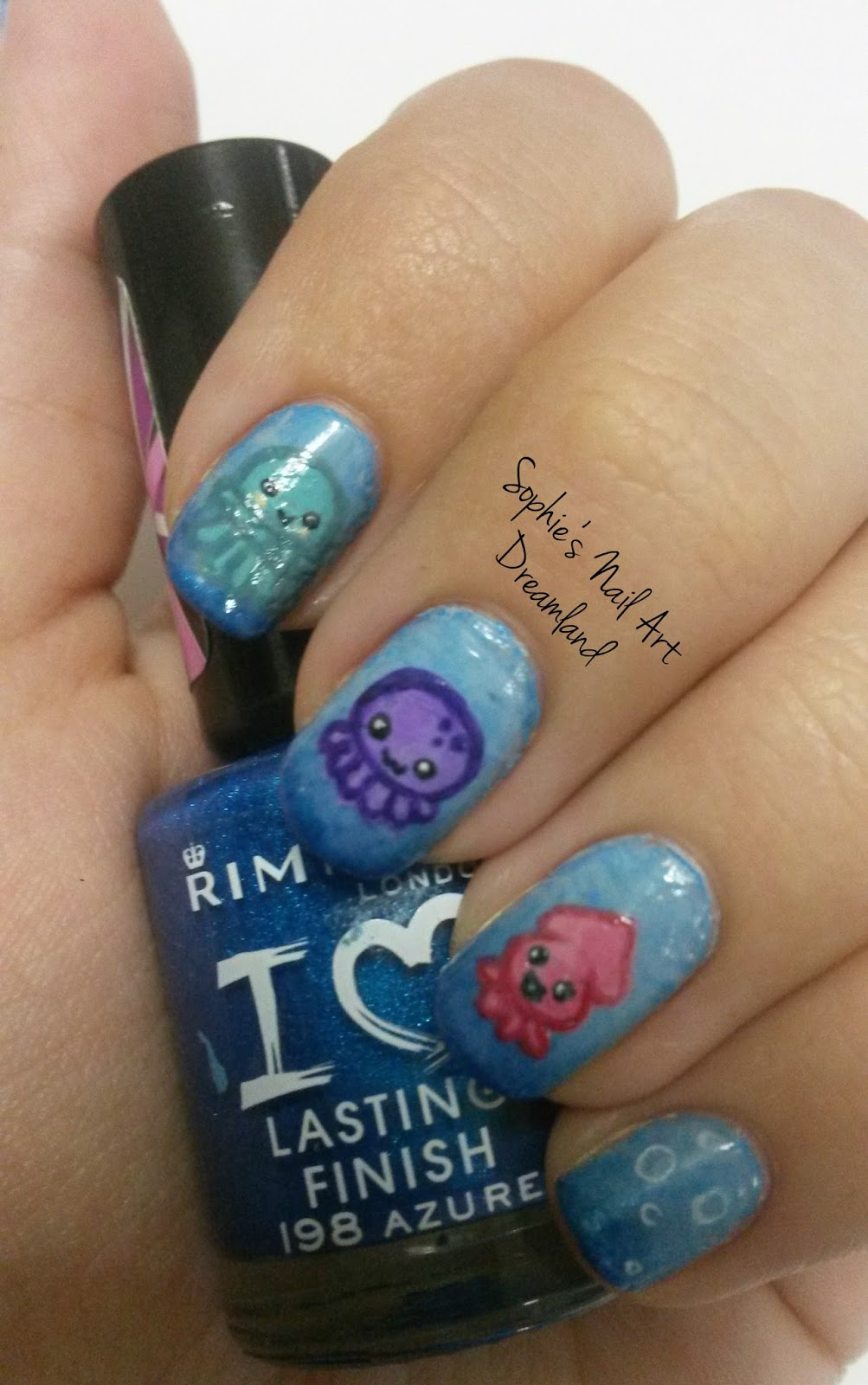 Colorful Water Droplet Nail Art Component - Nail Art Ideas ...