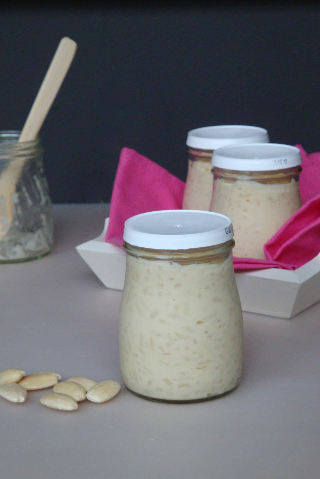 les cahiers gourmands riz au lait d 39 amandes. Black Bedroom Furniture Sets. Home Design Ideas