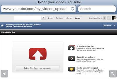 Upload iPhone Video to YouTube Via Safari