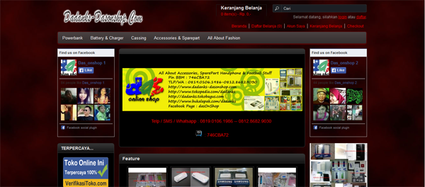 Dadanks-dasonshop.com Toko Online Terpercaya