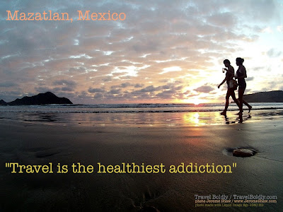 """Travel is the healthiest addiction"" Travel Boldly / TravelBoldly.com - photo Jerome Shaw / www.JeromeShaw.com"