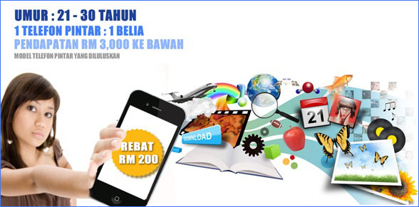 Latest list of 70 3G smartphones offered with RM200 rebate