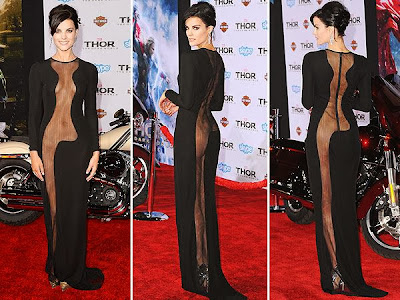Jaimie Alexander Black Azzaro Dress