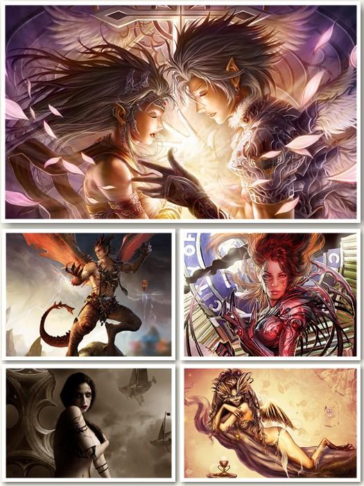 Vampires, Angels, Demons Wallpapers Pack