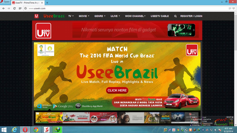 Cara Melihat Siaran TV Piala Dunia Online