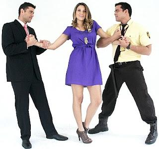 María Grazia Gamarra con Christian Domínguez y Yaco Eskenazi