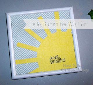 Hello Sunshine simple DIY wall art using your Cricut