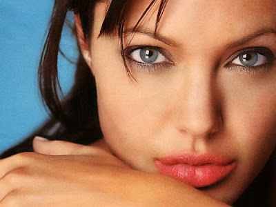Angelina Jolie juicy red lips