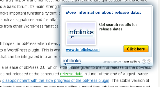 How Infolinks Shows On Your Website