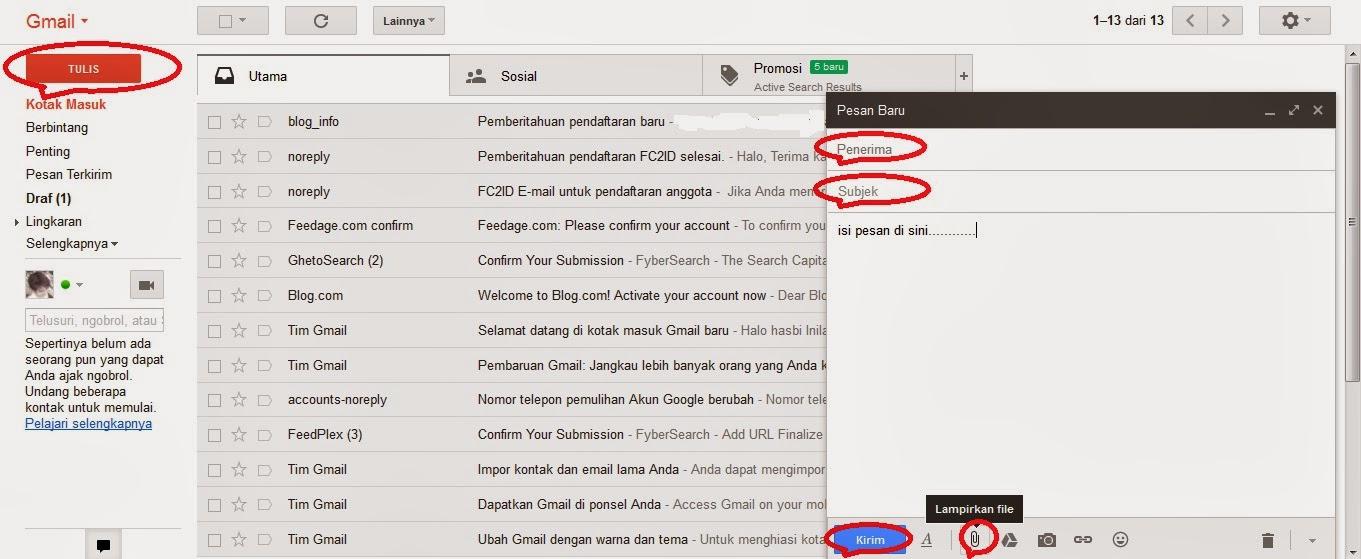 kirim email melalui gmail