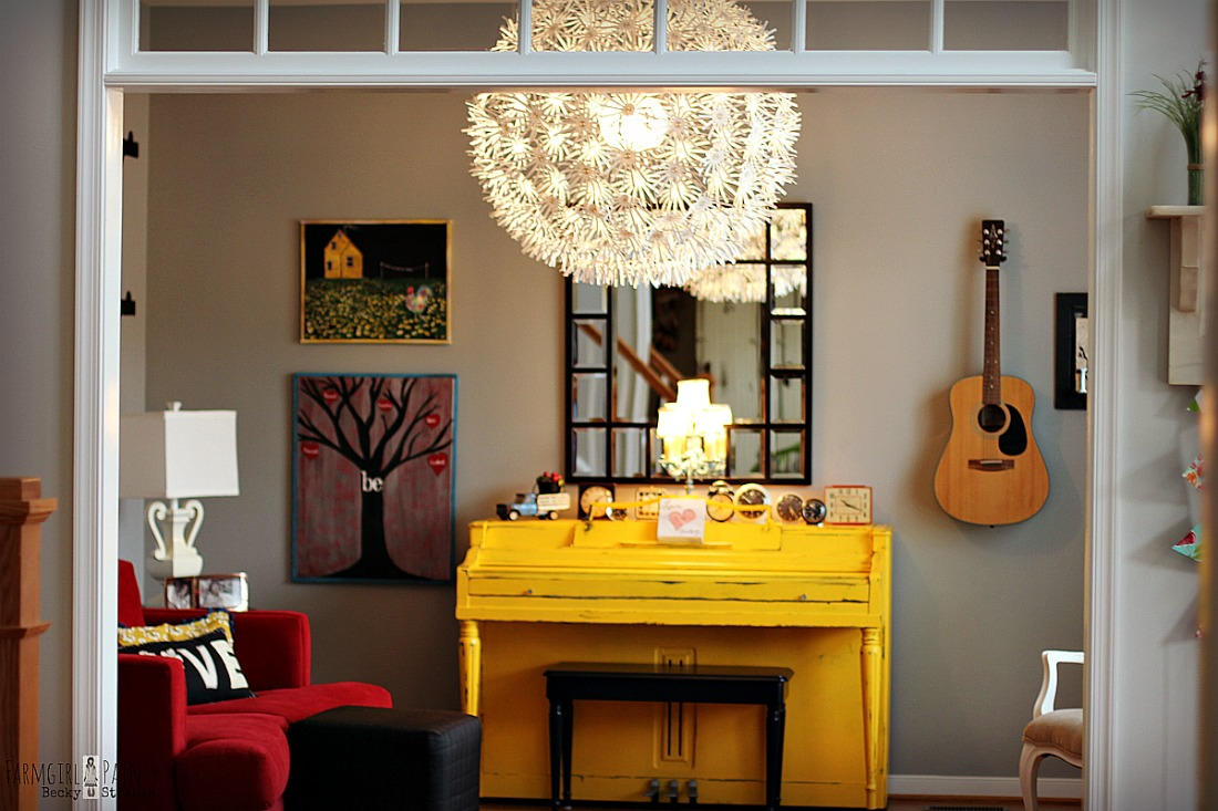 painted piano yellow