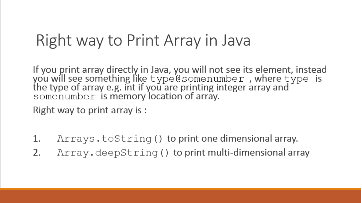 How to Print an Array in Java