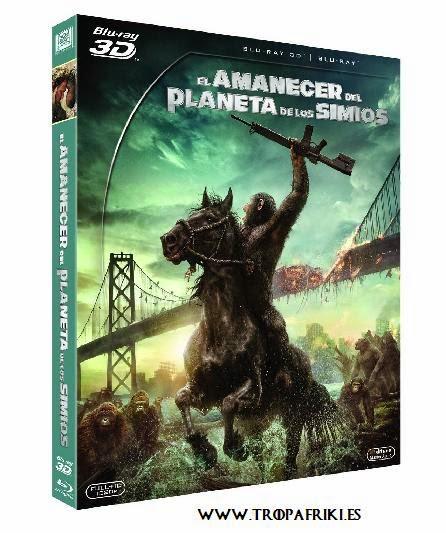 Película El Amanecer Del Planeta De Los Simios en Blu-ray y 3D