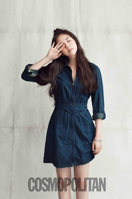 K-Fashion Inspiration: The Amazing Wonder of A Denim Shirtdress by Soohee