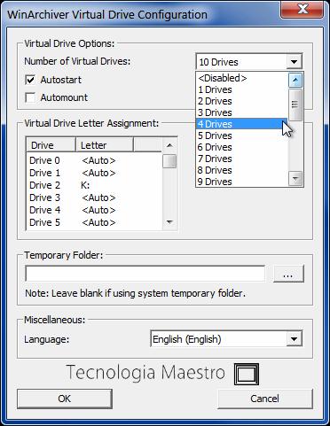 Montar discos virtuales son ISO o IMG, y tambien archivos ZIP y Rar