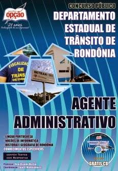 Concurso DETRAN / RO  AGENTE ADMINISTRATIVO 2014