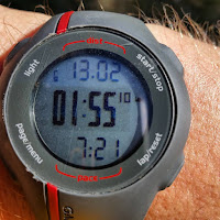 Watch time:  1:55 for half-marathon