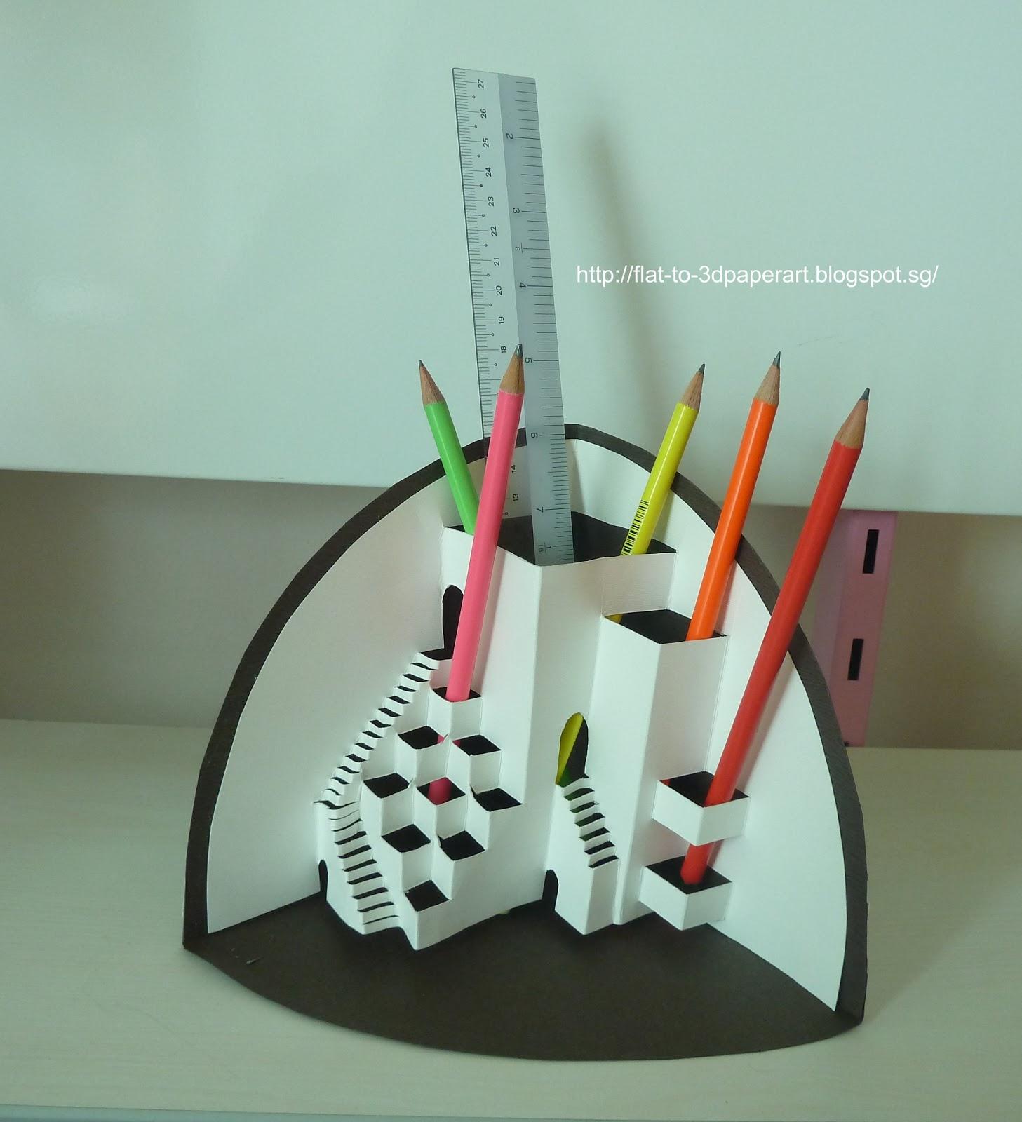 Origami kirigami paper artist and designer in singapore for Kirigami paper art