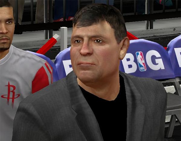 NBA 2K14 Coach Kevin McHale Face Mod