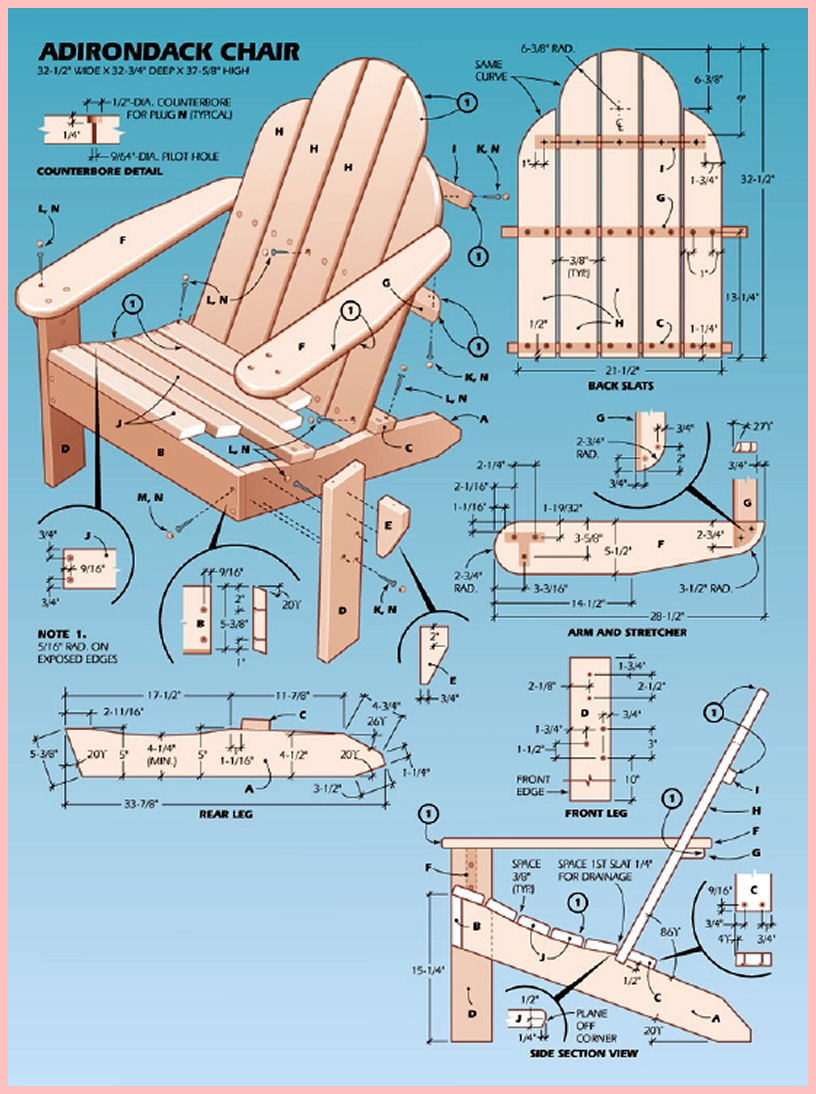 It is an image of Delicate Printable Adirondack Chair Plans