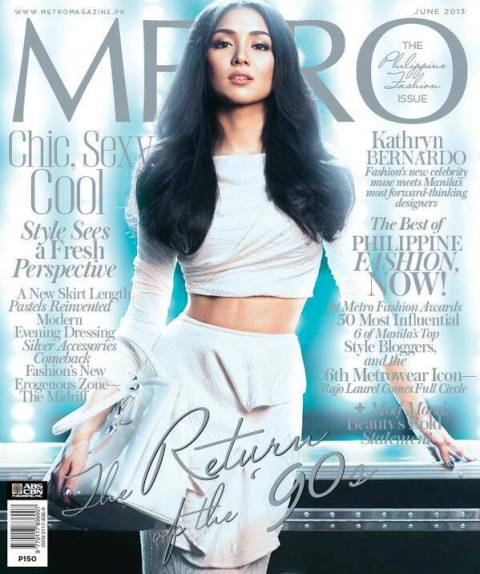 Kathryn Bernardo Covers Metro Magazine June 2013 Issue