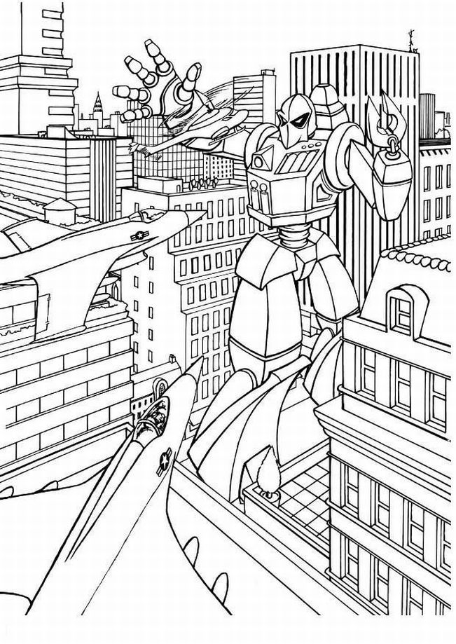 Bumblebee Transformer Coloring Page