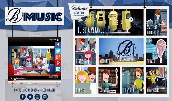 La aplicación musical de Ballantines, BMusic