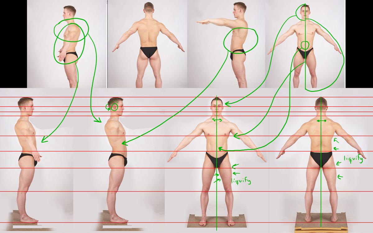 Art by Xan: Estudio anatómico masculino (Making of) - Cara y torso ...