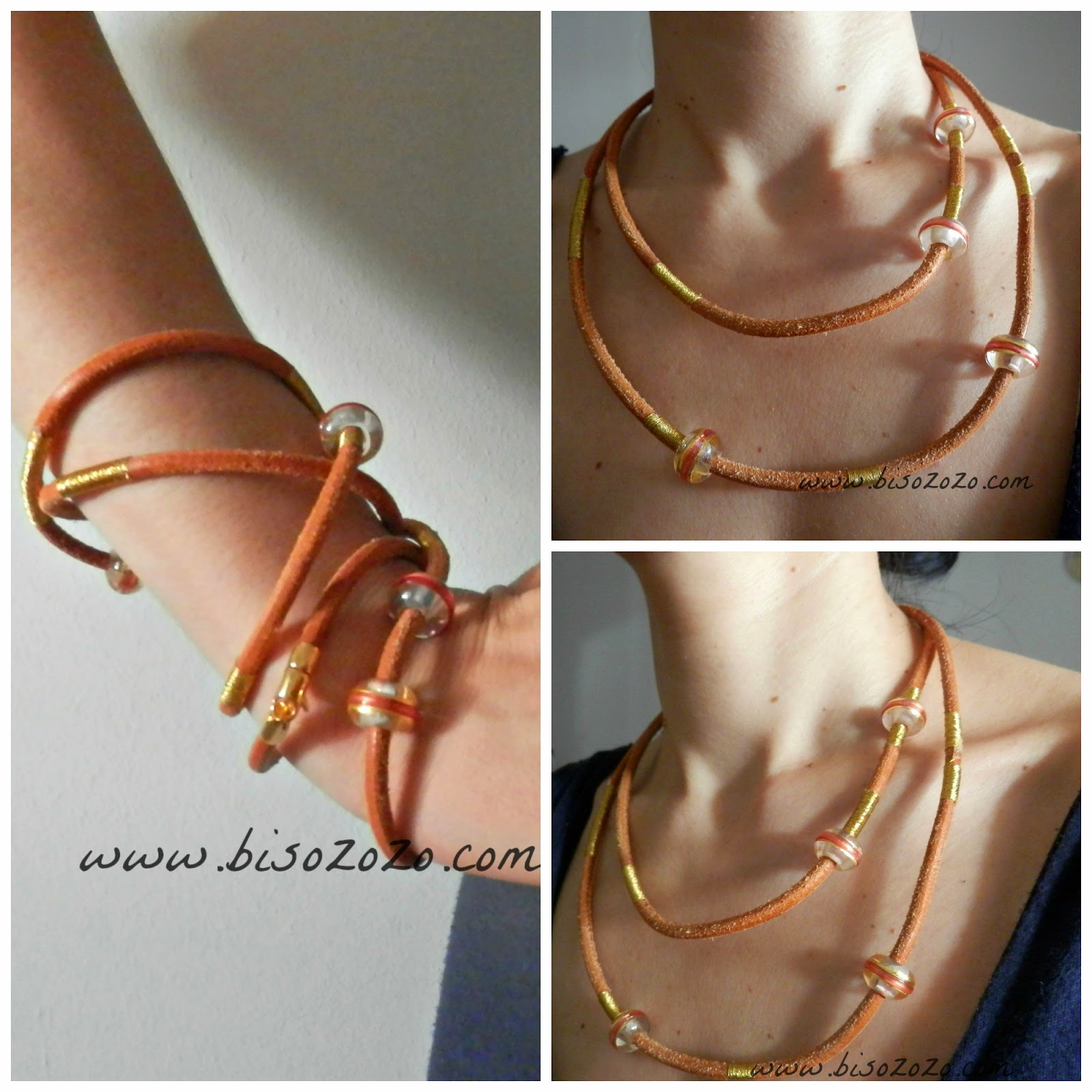 diy leather cord and beads jewellery