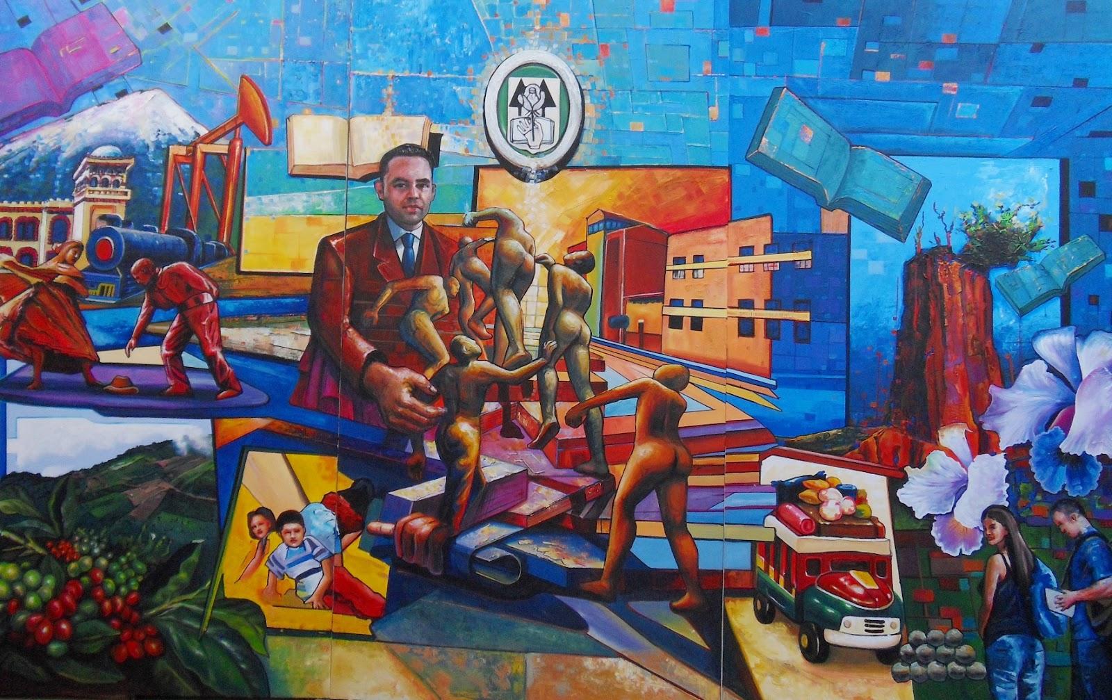 Se Convertir   El Mural Realizado Por Ernesto R  Os Rocha Para