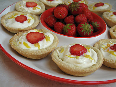 Pie Party - Strawberry Lemon Cream Pies