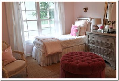diseño dormitorio rosa y gris